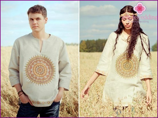 Linen clothes for spouses
