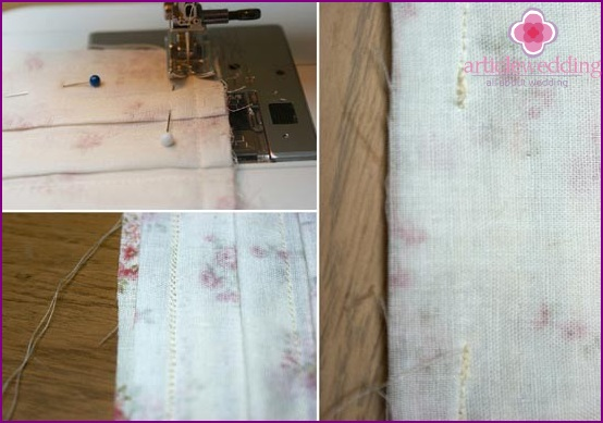 Sew two edges of the pad