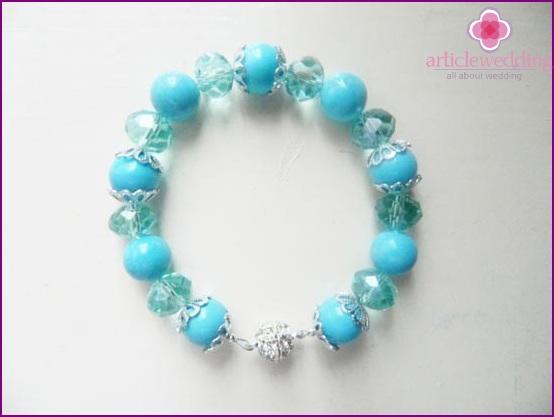 Charming bracelet for the bride