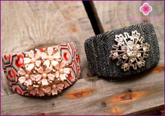 Fashionable bracelets for bridesmaids