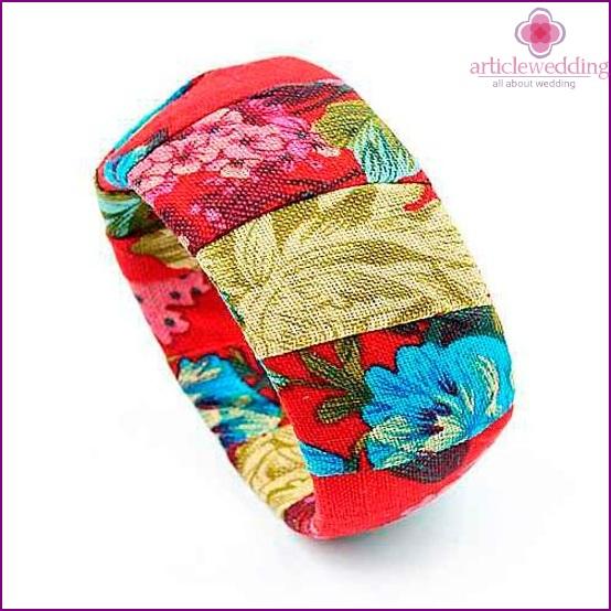 Cute fabric bracelet