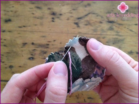 Sew pieces of fabric
