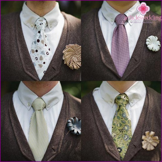 Fashionable ribbon buttonholes