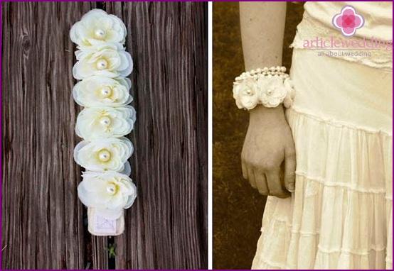 Luxurious bracelet for the bride