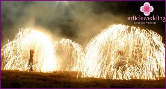 Beautiful fire show