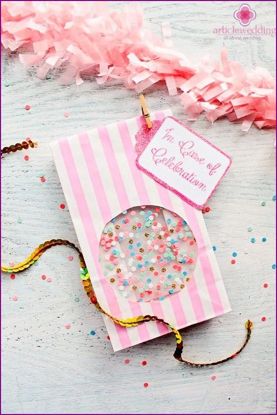 Cute confetti packaging