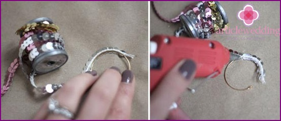 Glue sequins to the ring