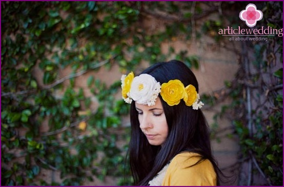 Beautiful crown of flowers