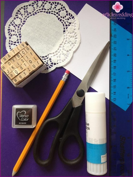 Materials for making a lace banquet card