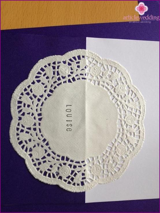Glue a napkin onto a postcard