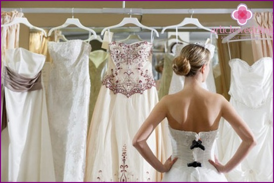 Large selection of wedding dresses