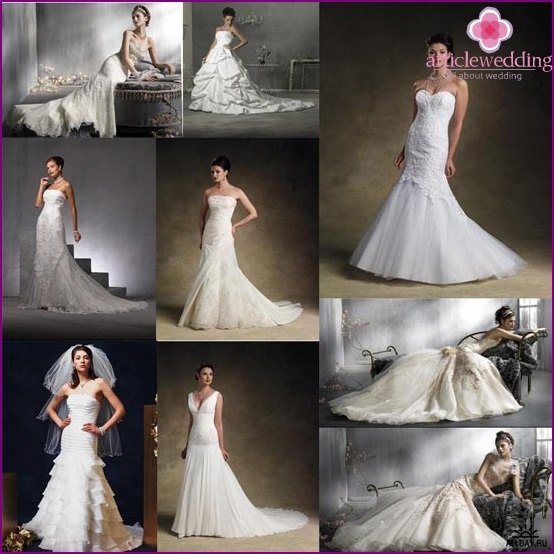 Various wedding dresses