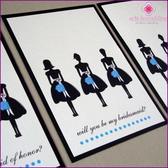 Invitations for Bridesmaids