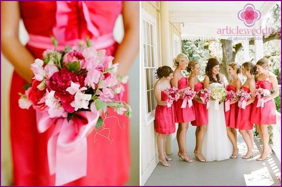 Same evening dresses for bridesmaids