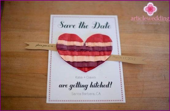 Unusual wedding invitation