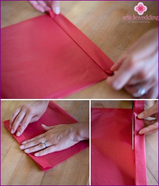 Bend the paper into an accordion