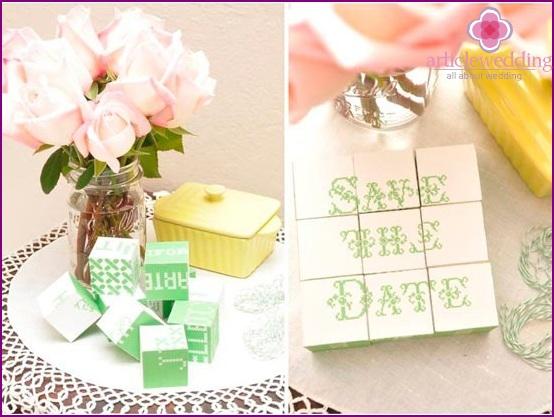 Unique wedding date invitation