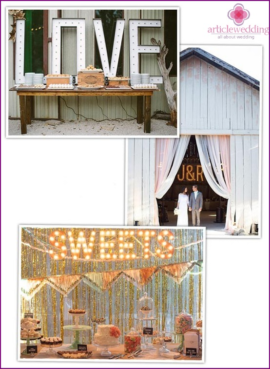 Fashion accessories for a wedding