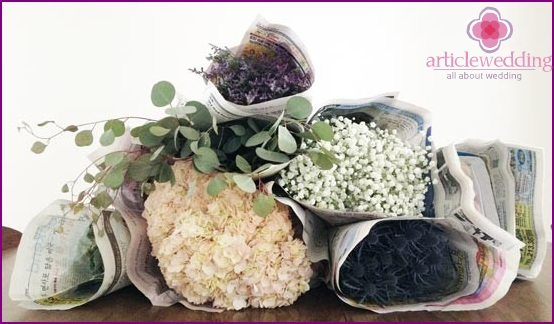 Buy flowers to create a bouquet
