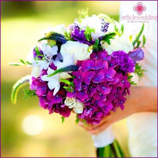 Cute hydrangea bouquet
