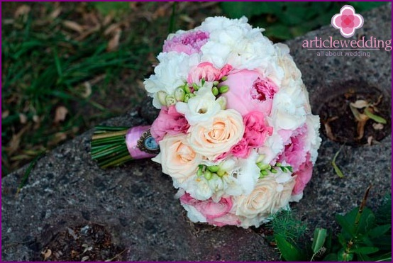 Fashionable wedding bouquet