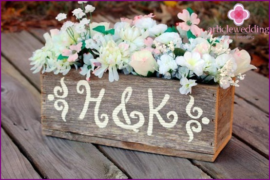 Name tub for a wedding