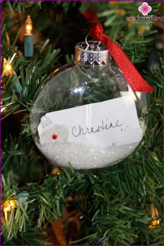 Christmas ball as a pointer