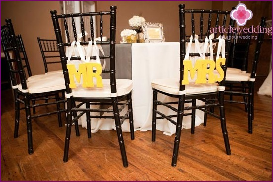Letters decor chairs