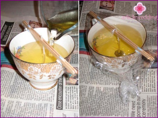 Cover the cup with foil