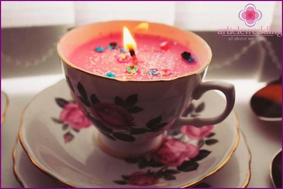 Cute wedding candle