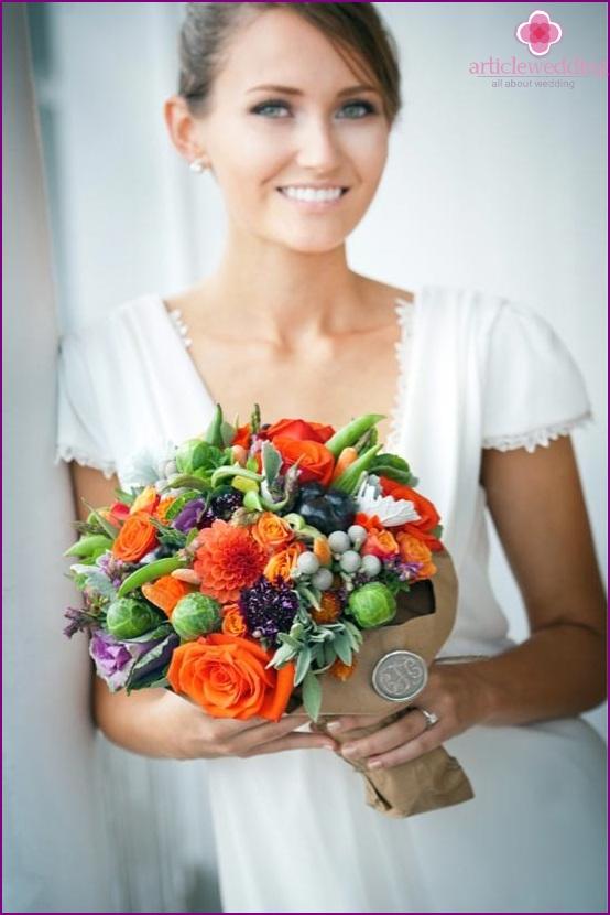 The original bouquet for the wedding