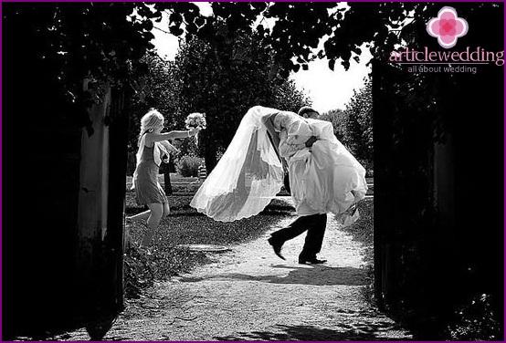 The bride was stolen