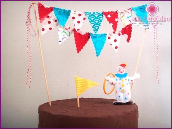 Stylish cake flags