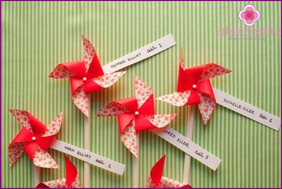 Creative seating cards