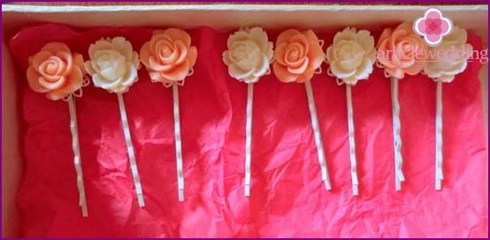 Beautiful gift hairpins