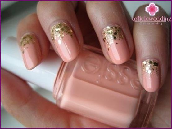 Glitter Wedding Manicure