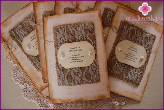 Scrapbook wedding program