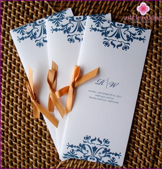 Ribbon Tied Wedding Program