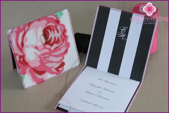 Stylish wedding program and envelope