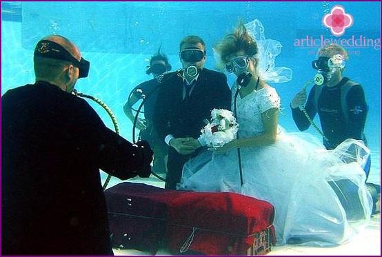 Wedding under water