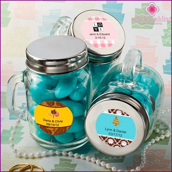 Sweets in jars