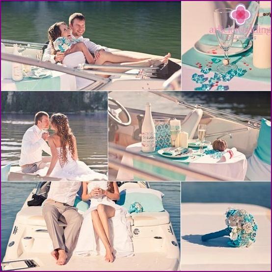 Wedding photography on a yacht