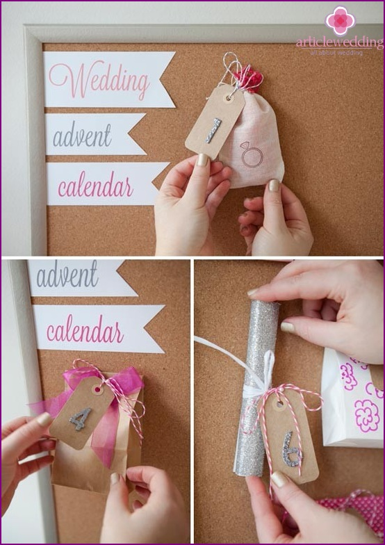 Attach gifts to the calendar