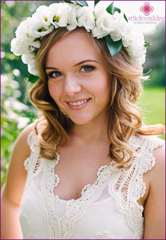 Snow-white wreath