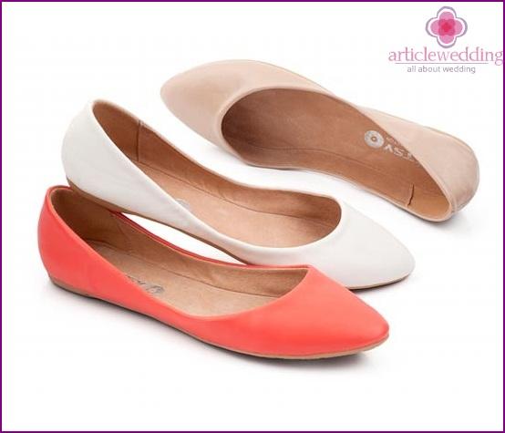 Colored ballet shoes