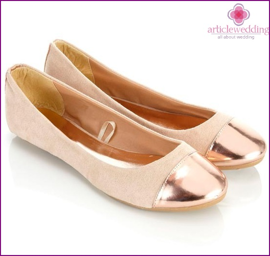 Ballet Flats with Metal Noses