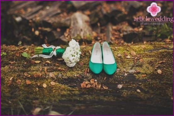 Green ballet shoes