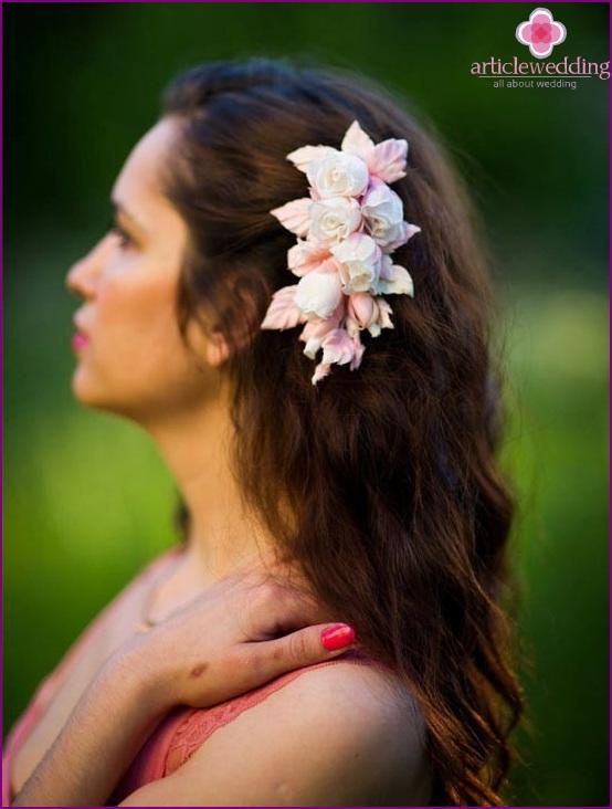 Flower hairpin