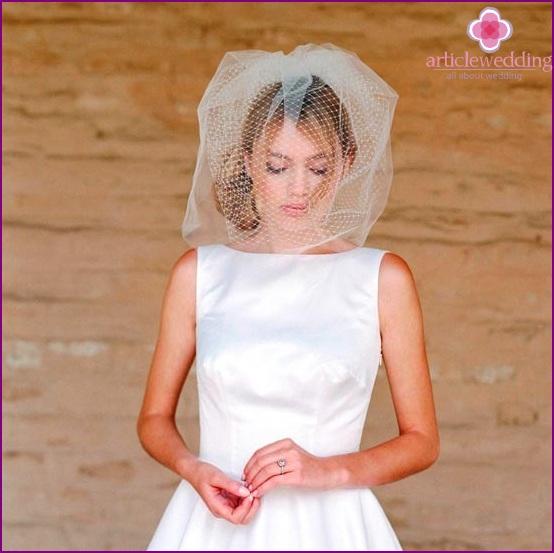Creative short veil