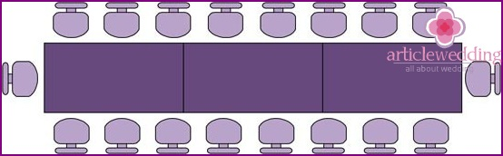 Rectangular common table